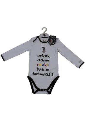 BJK Store Beşiktaş Orijinal Lisanslı Uzun Kol Bebek Body Zıbın