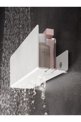 TARMOSER Beyaz Modern, Estetik Ve Minimalist Tasarım Metal Duş Rafı Paslanmaz Modern Metal Duş Rafı