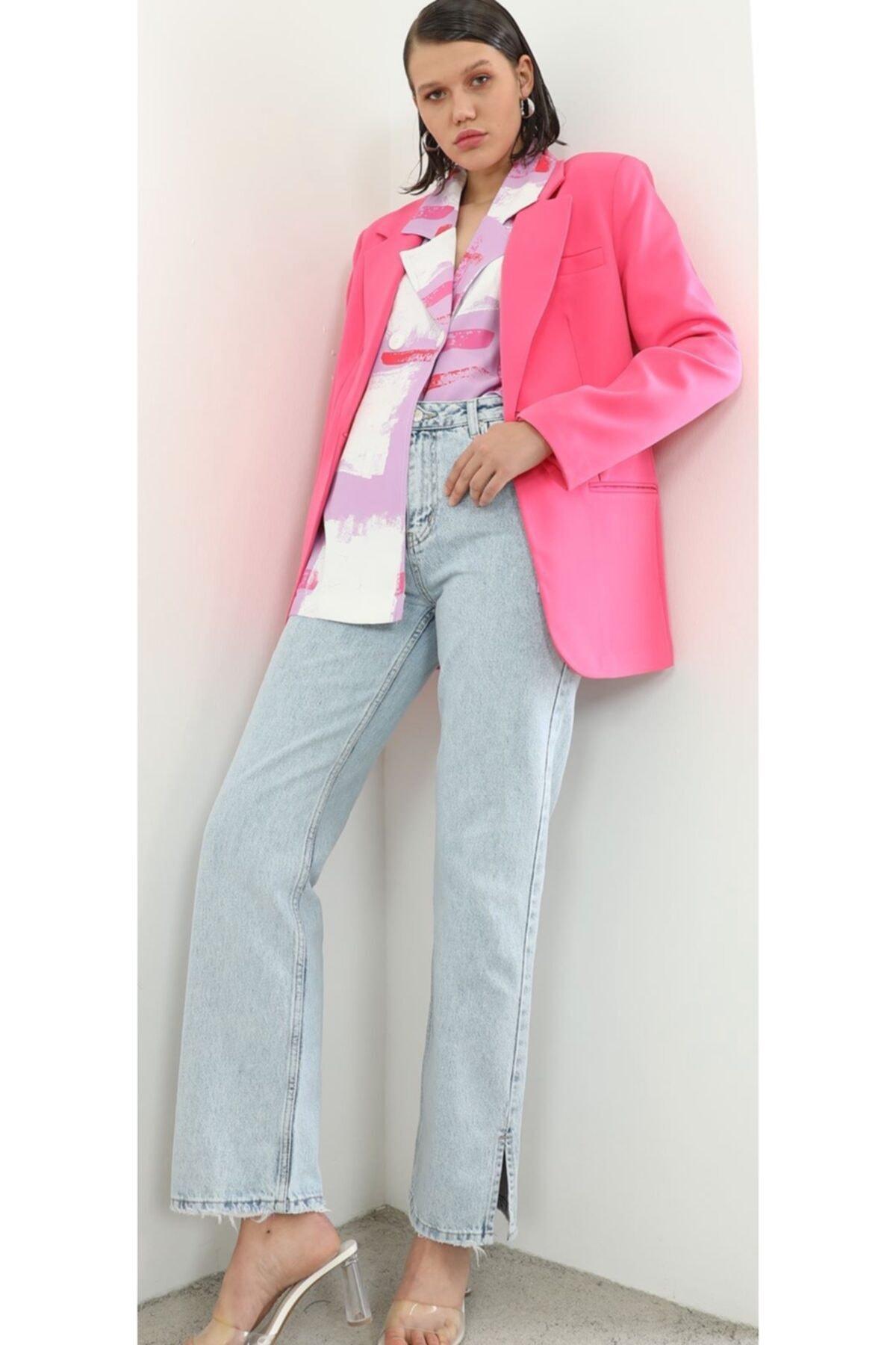 The Ness Collection Fuşya Boyfriend Blazer Ceket 2