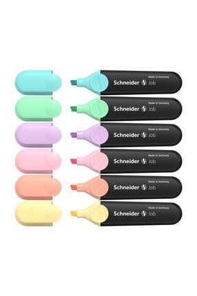 SCHNEIDER Fosforlu Pastel Kalem Tüm Renkler 6'lı Set F.k