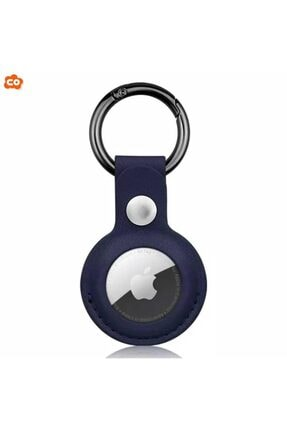 Cepotto Apple Airtag Kılıf Anahtarlık Leather Loop Suni Deri Kopçalı