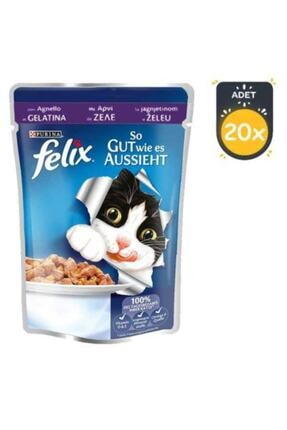 FELIX Somonlu Yetişkin Kedi Pouch 100 gr X 20 Adet