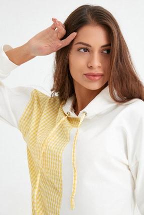 Fulla Moda Pötikare Desenli Kapüşonlu Sweatshirt
