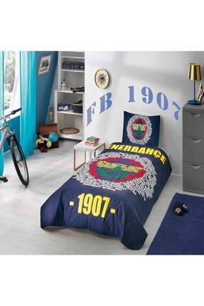 Taç Fenerbahçe Marşlı Logo Tek Kişilik Ranforce Yatak Örtüsü