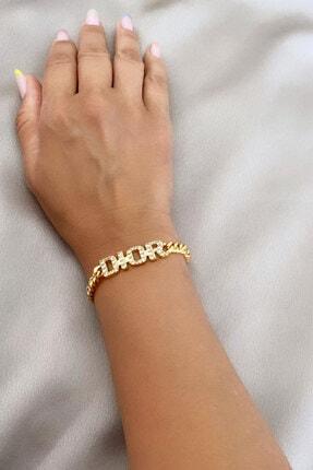 im Design Dior Yazılı Zirkon Taşlı Bileklik