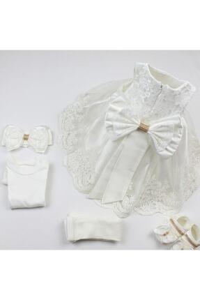 Malkoç Kız Bebek Elbisesi  Fransız Dantelli Abiye