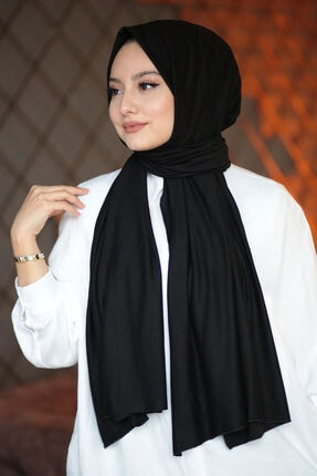 AFVENTE Kadın Penye Şal Siyah