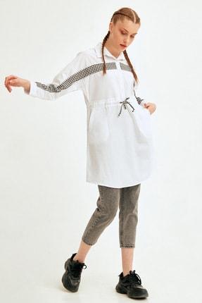 Fulla Moda Pötikare Şeritli Beli Bağlamalı Tunik