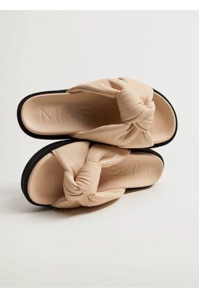 MANGO Woman Düğümlü Platform Sandalet