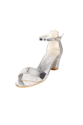 Mini Angel Kız Çocuk Abiye Ayakkabı Aynalı Topuklu Ayakkabı