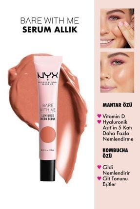 NYX Professional Makeup Allık - Bare With Me Luminous Cheek Serum Peach Bronze