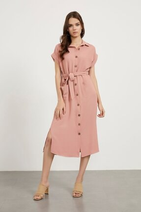 Arma Life Kare Düğme Dik Aurobin Elbise