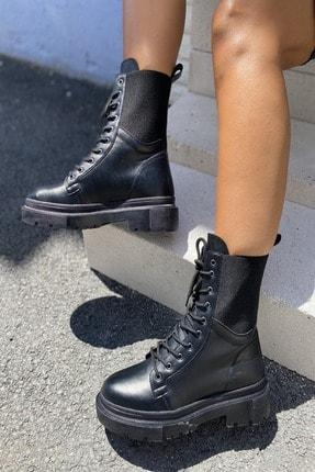 İnan Ayakkabı KADIN SİYAH BOT&BOOTİE&POSTAL 21INA94