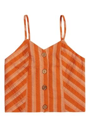 Çikoby Kız Çocuk Çizgili Crop Bluz 7-14 Yaş Pk21s507-2850