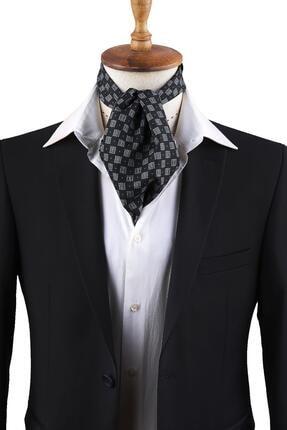 Kravatkolik Siyah Motif Desen Erkek Fular K297