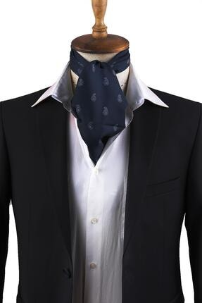Kravatkolik Lacivert Şal Desen Erkek Fular K302