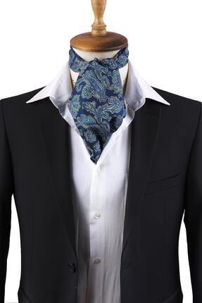 Kravatkolik Lacivert Şal Desen Erkek Fular K307