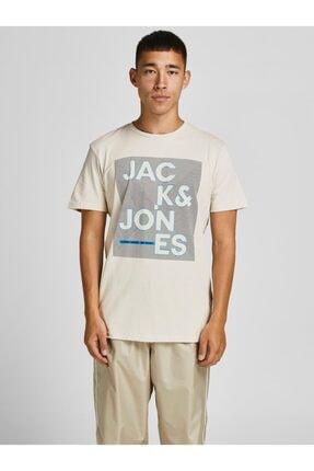 Jack & Jones Jack Jones Star Tee Ss Crew Neck July 2021 Erkek Bej Tshirt 12190149-06