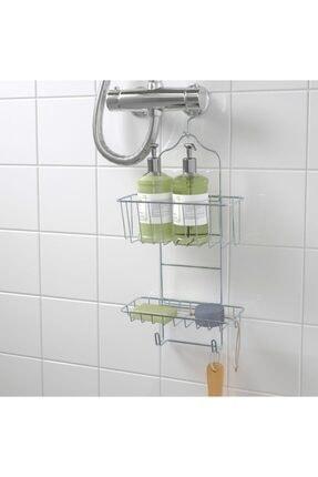 IKEA Duş Sepeti Pas Tutmaz, Duş Rafı Askılı, Çinko Kaplama