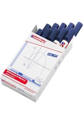 Edding Mavi Beyaz Yazı Tahtası Kalemi 10'lu Paket