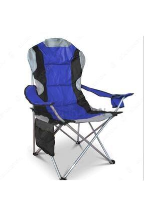 DORA Kamp Sandalyesi Kamp Koltuğu Xxl Kalın Profil - Mavi