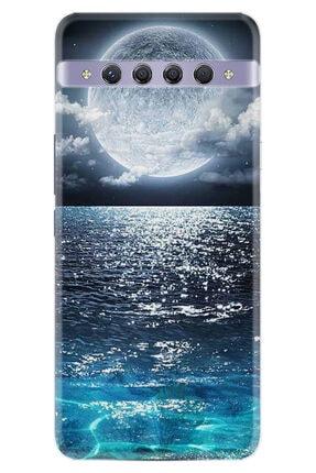 TCL 10 Plus Kılıf Desenli Silikon Kılıf Great Moon 1301