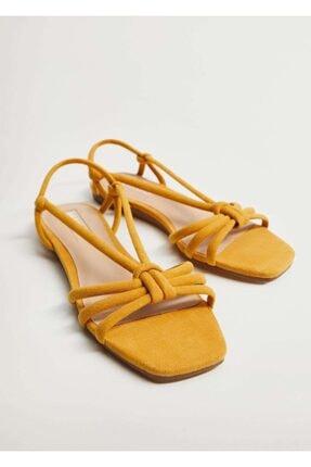 MANGO Woman Çapraz Bantlı Sandalet