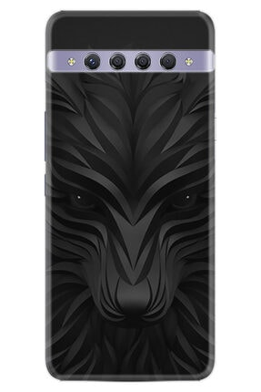 TCL 10 Plus Kılıf Desenli Silikon Kılıf Black Fox 1325