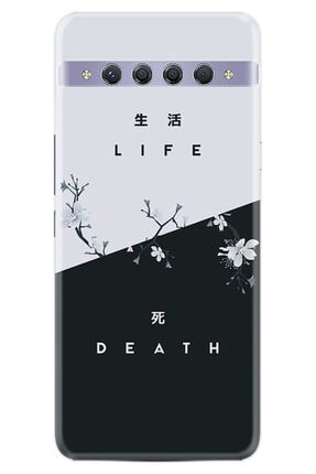 TCL 10 Plus Kılıf Desenli Silikon Kılıf Life And Death 1339