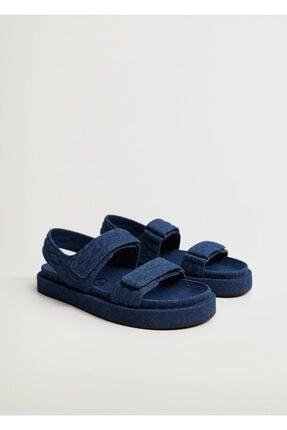 MANGO Woman Pamuklu Kot Sandalet