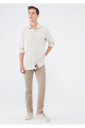 Mavi Marcus Bej Gabardin Pantolon