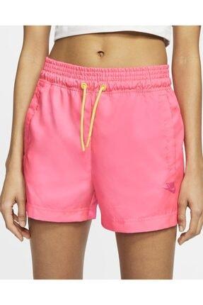 Nike Pembe Şort Kadın Sportswear Women's Woven Shorts - Pink Cw2509-679