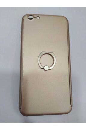 Penguen Iphone 6 Plus Uyumlu Yüzüklü Tam Kaplayan 360 Kılıf (koruyucu Cam Hediyeli)