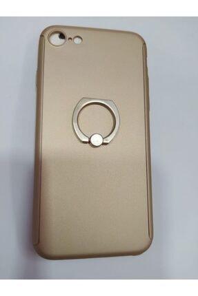 Penguen Apple Iphone 7 Uyumlu Yüzüklü Tam Kaplayan 360 Kılıf (koruyucu Cam Hediyeli)