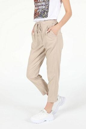 Colin's Kadın  Regular Fit Yüksek Bel  Kadın Pantolon .CL1053353_Q1.V2_BEI