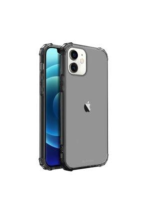 Buff Blogy Iphone 12 Mını Crystal Fıt Kılıf Smoke Black