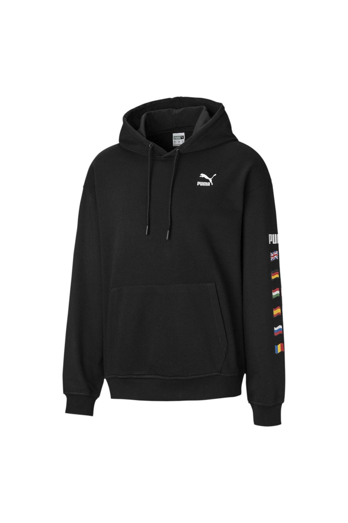 Puma FLAG GRAPHIC Erkek Kapüşonlu Sweatshirt
