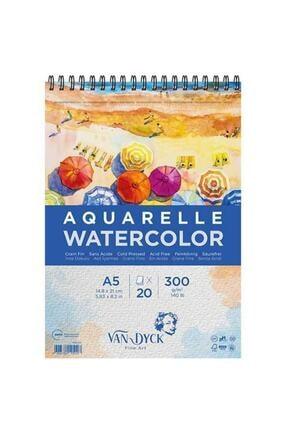 Van Dyck Aquarelle Watercolor Suluboya Resim Defteri A5 300 Gr 20 Yp