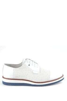 İgs Erkek Beyaz Deri Günlük Ayakkabı I20s-459-1 M 1000
