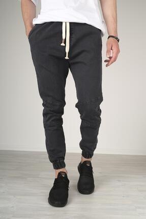 Oksit Juan Bağcıklı Diz Detaylı Lastik Paçalı Erkek Jean Pantolon