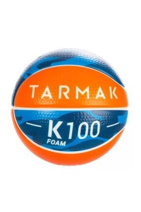 TARMAK Zararsız Sünger Mini 1 Numara Bebek Basketbol Turuncu Mavi