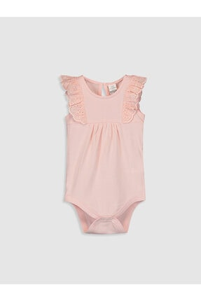 LC Waikiki Pembe Kız Bebek Pamuklu Çıtçıtlı Body