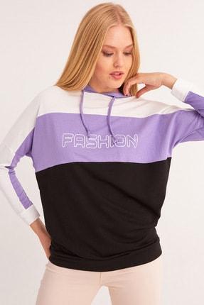 Fulla Moda Fashion Baskılı Kapüşonlu Sweatshirt