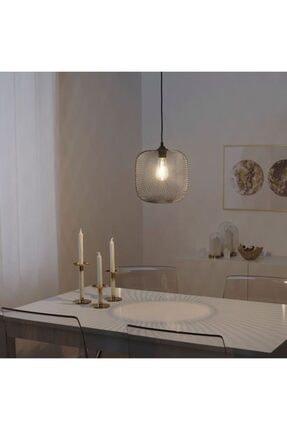 IKEA Sarkıt Lamba Abajur Başlığı, Siyah Meridyendukkan 26 Cm ,çelik Yükseklik: 25 Cm