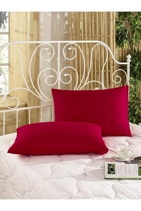 TABEA HOME Saten Yastık Kılıfı 2'li Kırmızı 50 x 70 cm