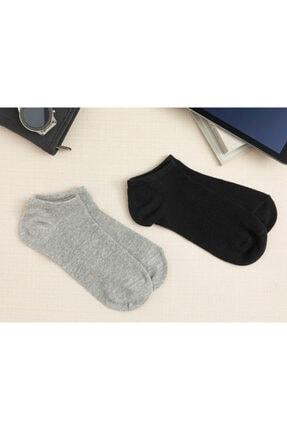 English Home Melissa Pamuk 2'li Kadın Çorap Siyah- Gri