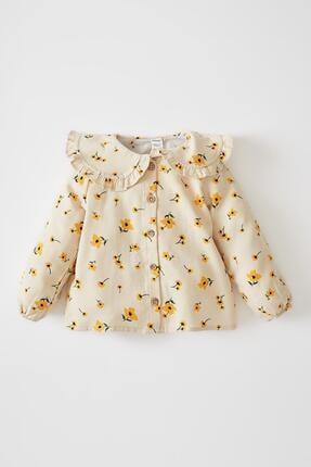 DeFacto Kız Bebek Çiçekli Uzun Kollu Gömlek