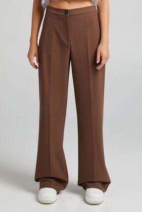 Bershka Arka Cepli Wide Leg Pantolon