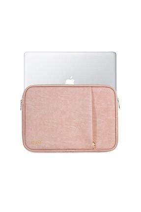 SKOG Visby 15.6 Inch Macbook Laptop Kılıfı Pudra Vegan Deri