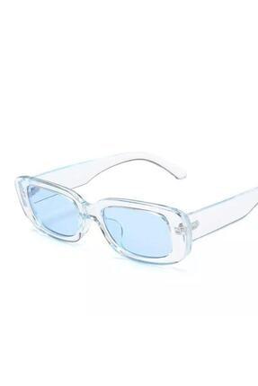 LOOKUP Mavi Kare Dikdörtgen Vintage-retro Unisex Güneş Gözlüğü